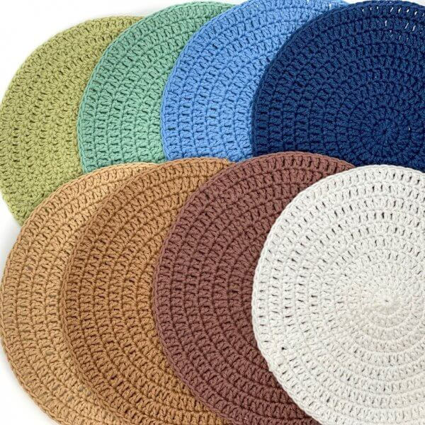Large Crocheted Round Play Mats (Nature Series) by Malaysia Toys