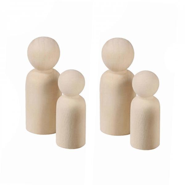 Raw Family Peg Dolls by Malaysia Toys