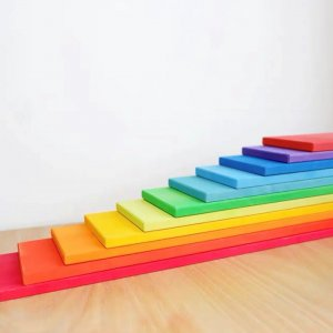 Wooden Rainbow Planks by Malaysia Toys