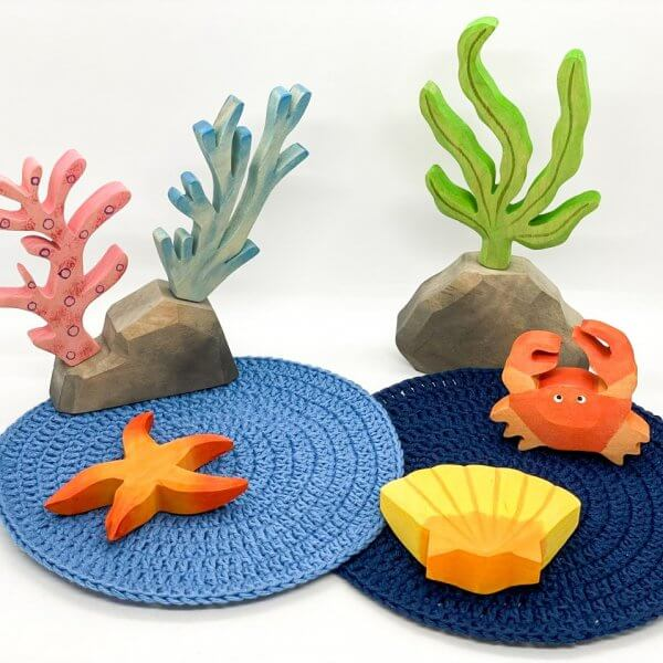 Wooden Sea Coral Scene by Malaysia Toys