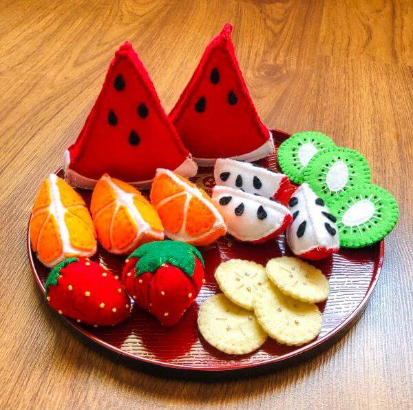 Felt Fruits Play Food by Malaysia Toys