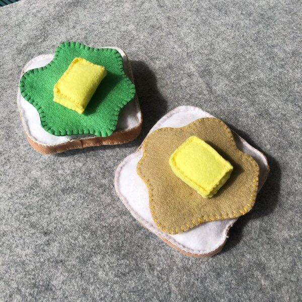 Felt Kaya Toast Play Food Set by Malaysia Toys
