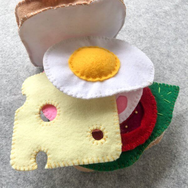 Felt Sandwich Play Food Set by Malaysia Toys