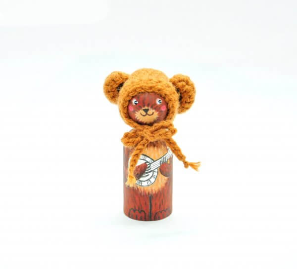 Lily and Bear Peg Dolls by Malaysia Toys