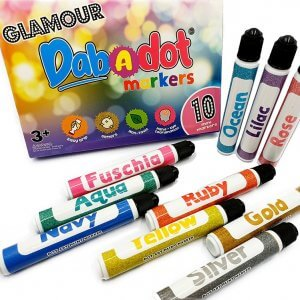 Dab-A-Dot Glam 10 pieces Marker by Malaysia Toys