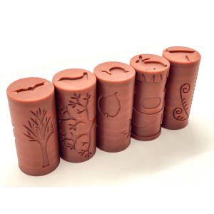 Forest Playdough Rollers by Malaysia Toys