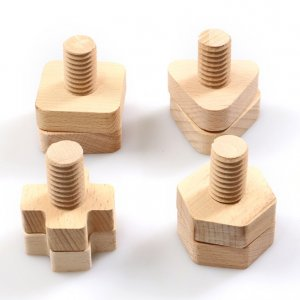 Wooden Nuts and Bolts by Malaysia Toys